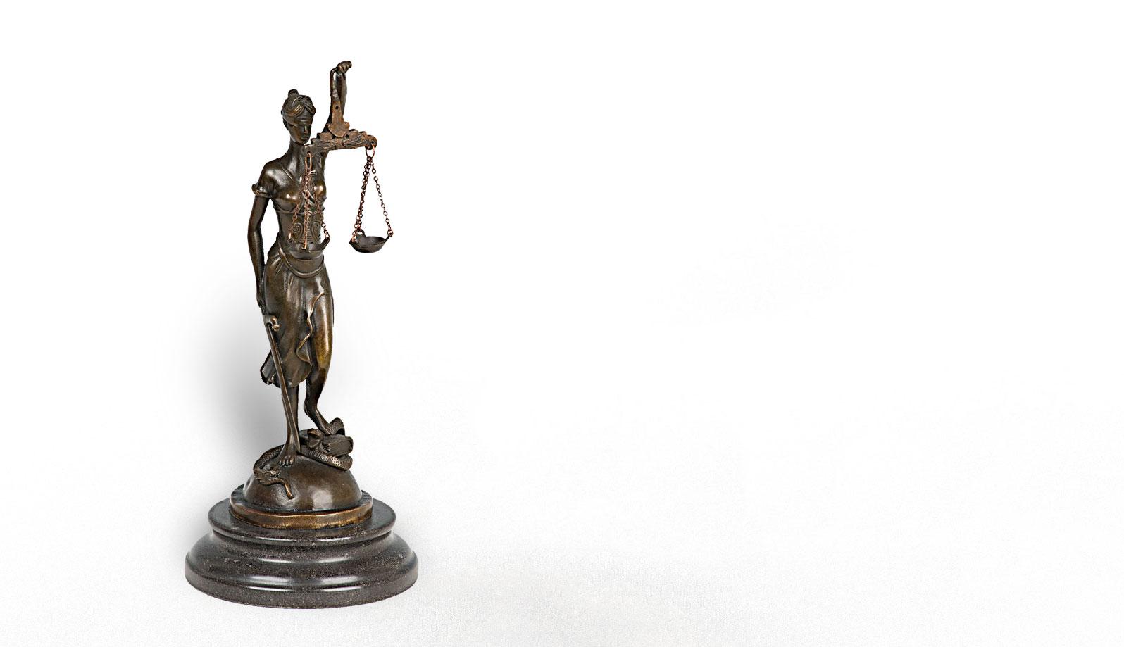 statuie zeita justitiei bronz